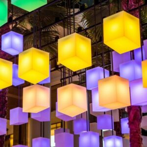 Glow LED light cube