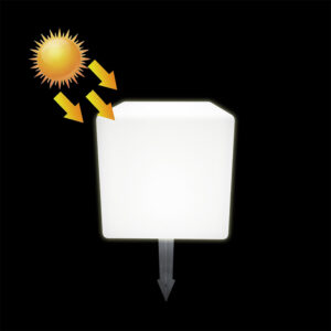 Solar Cube Garden Lights, 20x20x20cm 7.9inch