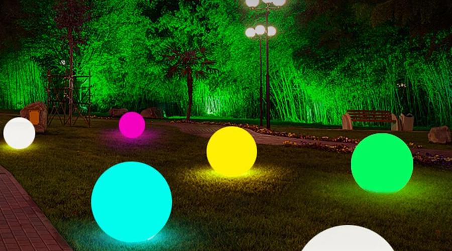 outdoor led ball lights